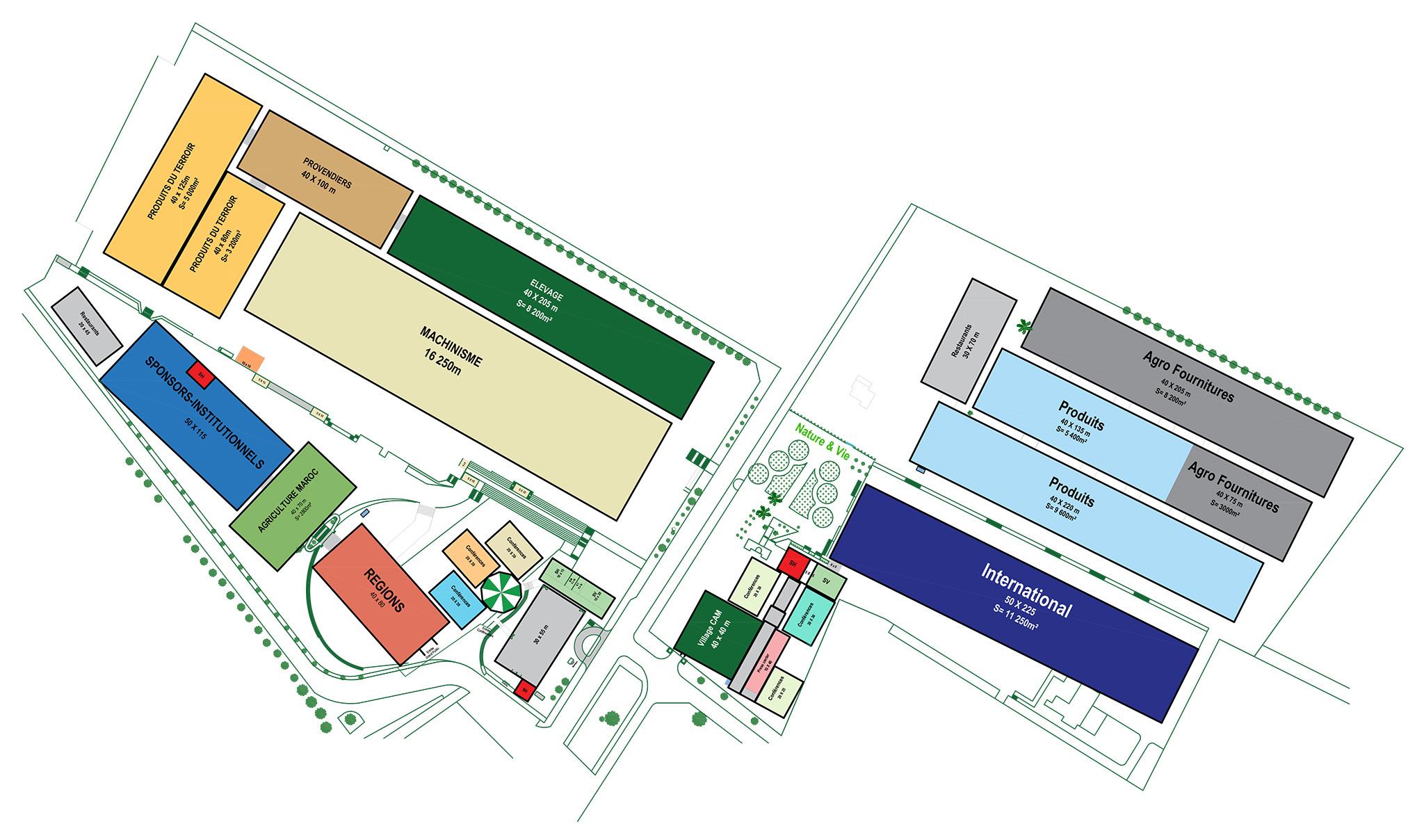Plan de masse SIAM 2020